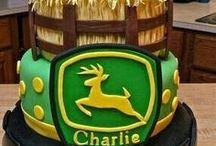 Tractor Cakes / A collection of tractor cakes for cake decorating inspiration.