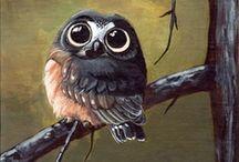Wijze uilen. / Een oude wijze uil zat in een boom.  Hoe meer hij zag, hoe minder hij sprak.Hoe minder hij sprak, hoe meer hij hoorde.  Waarom volgen we zijn voorbeeld niet?  (Marc Sleen) / by hilde herpelinck