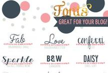 Fonts / Ton's of fun font ideas. Many free fonts. Cool font combinations! / by All Scrapbook Steals