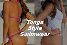 Tonga Bikini Swimwear / Tonga Bikini Swimwear Tonga style swimwear is a available in bikini styles and one piece swimsuit designs. The difference between a tonga style swimsuit and other swimwear designs is it is one step above a thong bikini offering slightly more coverage than a standard beach thong bikini. The tonga is the perfect choice for women that are not quite ready for a thong bikini but want that same effect. #tongabikinis #tonga #tongaonepieceswimwear #tongaswimsuits #tongabathingsuits
