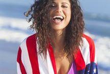 Patriotic USA Flag 4th of July Bikinis / A fabulous collection of Patriotic Bikinis in the USA Flag pattern for the 4th of July. #patriotic #bikinis