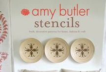 Amy Butler Stencils / I've always loved to stencil, and so creating this how-to book with 14 unique, pre-cut designs was a natural for me! These easy-to-use stencils are perfect for mixing and matching to create your own personal style statement on a wide variety of surfaces (including fabric!). Also, there's a section on creating your own designs! / by Amy Butler