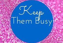 Keep Them Busy / Some great ideas to keep your kids busy. Many more ideas at www.3withadhd.com