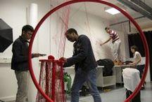 FIL ROUGE // Installation de l'exposition / Exposition de fin d'année 2012-2013