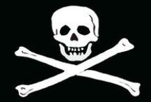 Un par de tibias y una calavera. / Barcos y piratas