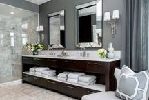 Shades of Grey - Bathrooms / Can you guess what the latest design trend in color is? According to K+BB (Kitchen & Bath Business)'s recent article, shades of gray are the new neutral, and quickly replacing beige. Designers are taking this sophisticated yet tranquil palette to the walls, cabinetry, and surfaces.