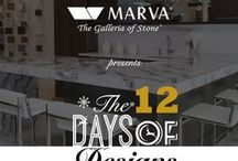 MARVA 12 Days of Designs Competition / Competition displaying 12 finalists showing off designs featuring Cambria Quartz.