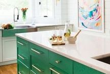 Luck of the Irish -- March 2016 / In honor of St. Patrick's Day -- All things Green to inspire your kitchen design!