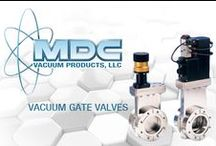 Vacuum Valves / In the simplest of terms, vacuum gate valves are devices that regulate the flow of gases, fluids or materials through a structure or aperture by opening, closing or obstructing a port or passageway. Gate valve assemblies consist of three key components: an actuator, a carriage/gate and a valve body. The actuator provides the power to position or transport the valve's carriage/gate.