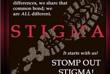 Stigma of Mental Illness  / The stigma attached to mental illness can make it hard for people to get help.  / by Bipolar Bandit & Mental Health