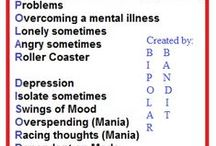 Bipolar Disorder / This is a combination of all of my other boards that deal with bipolar disorder. The other boards are more specific and I suggest you look at how they organized as it will probably better to find what you need.  My blog: http://bipolarbandit.wordpress.com/  #bipolar #bipolardisorder  / by Bipolar Bandit & Mental Health