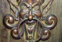 Door knockers, knobs and locks