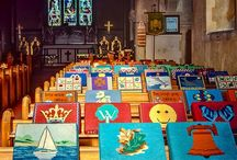 Church kneelers / We have amazing kneelers at All Saints church. I thought I would share along with others I have found