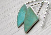 Earrings / modern jewellery, contemporary Jewellery, creative design earrings