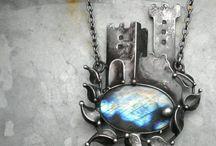 Pendants / modern creative stylish jewellery, unusual design pendants, contemporary Jewellery