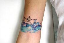 Ink fewer / tattoos, beautiful inked skin, bohemian lifestyle, cool tattoo ideas, tiny tattoos, watercolour tattoos