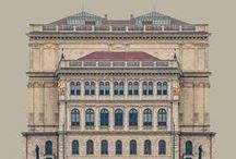 facades&elevations / architecture facades simmetry elevations