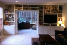Wall Units / Closettec will create a custom designed wall system for every area of your home.  We will design everything from a complete state of the art home entertainment center to a multipurpose play center and beyond.