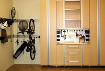 Garage Storage / Custom cabinetry for the garage area allows you to keep sporting equipment, garden tools and bikes organized with easy access.