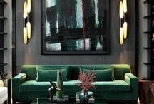 Dark Elegance / Dark, moody & luxurious interiors and decor.