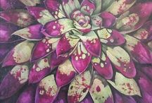Flora and fauna originals / Plants and flowers by amber brook