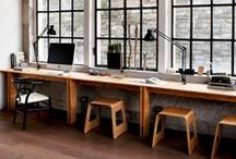 Office / Studio / Workspace / Beautiful spaces for working and creating. Home offices, standard offices, and studio spaces.