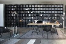 Iron-ic #iron #bookcase / Iron-ic, new snap-fit modular bookcase by Ronda Design, made of natural iron forged in wavy shapes. Modules can be combined to create an impactful functional wall.