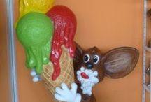 REKLÁMFIGURÁK: fagylalt dekoráció, fagyi reklámfigura / Ízelítő fagylalt reklámfiguráimból.