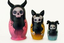 """Ur Such A """"DOLL"""" ~ Nesting, Kokeshi, Momiji, Voodoo & other Dolls / by Justyne Meza"""