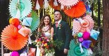 WEDDINGS / bright, colourful and fun wedding ideas from decorations to flowers, and food to dresses.