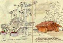 Le Papier fait le tour de France / Collaboration avec Urban Sketchers France avec un carnet voyageur   http://www.le-papier-fait-de-la-resistance.com/