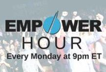 Empower Hour & Webcasts / The Empower Hour is a call held EVERY Monday night at 9pm ET. Empower Network leaders host the call, and deliver powerful mindset training, success stories, and more.  Tune in here, every Monday night at 9pm ET: http://bit.ly/17iXJrb