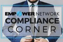 Compliance Corner / At Empower Network, we love Compliance. In the direct sales and online marketing industry, it is crucial to remain compliant within the rules and regulations of the FTC, and other federal institutions.  We never want to mislead you. In fact, we want you to feel comfortable and proud to do business with us.  Learn more about our dedicated Compliance team here: http://bit.ly/1L8vX3n