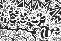 Doodling/Zentangle-Inspired / Inspired by zentangles.