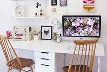 Inspiración lugares de trabajo / Espacios de trabajo en casa llenos de inspiración. #lugaresdetrabajo #decoracion #decohome