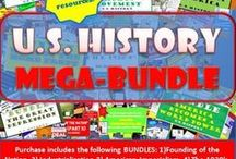 TpT U.S. History Teaching Strategies / #Secondary History Lesson Plans for Grades 6-12 https://www.teacherspayteachers.com/Store/Chalk-Dust-Diva Teaching Resources for the middle and high school social studies teacher. Units include: Founding of the Nation, Industrial Revolution, American Imperialism and World War I, The 1920's, The Great Depression, World War II, The 1950's, The Cold War, The Civil Rights Movement, Contemporary American Society