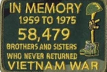 The Vietnam War: 1959 - 1975 / The Vietnam War was a Cold War-era military conflict that occurred in Vietnam, Laos, and Cambodia from 1959 to the fall of Saigon on April 30, 1975.  This conflict divided this country like few other overseas actions ever did.  However, the men and women who served and sacrificed deserve nothing less than the full honor they are due.   / by Jeff Dyer