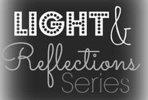 Light and Reflection for Learning / These are posts from our light and reflection series.  We incorporated light and reflection into our exploration of art, dramatic play, science, and words/writing with kids!
