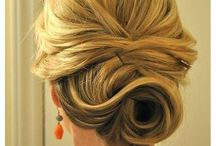 Wedding day hair-bridesmaids