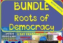 TpT 1-Roots of Democracy - World History Teaching Strategies / Engaging and Creative World History teaching strategies for the secondary classroom.  https://www.teacherspayteachers.com/Store/Chalk-Dust-Diva