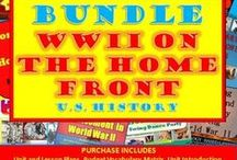 TpT 6 World War II on the Home Front (U.S. History) / Teaching strategies for the secondary U.S. History classroom related to World War II and American Involvement.  https://www.teacherspayteachers.com/Store/Chalk-Dust-Diva