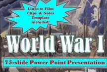 TpT 5 World War I (World History) / World War 1 Lesson plans and teaching strategies for secondary (high school) World History.