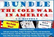 TpT 8- Cold War in America (U.S. History) / Lesson plans and teaching strategies for the unit on Cold War in America for secondary (high school) history.
