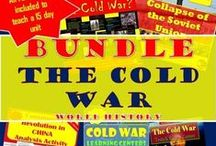 TpT 8 The Cold War (World HIstory) / Teaching strategies and lesson plans related to the Cold War around the World for secondary World History https://www.teacherspayteachers.com/Store/Chalk-Dust-Diva