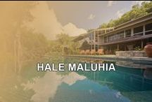 HALE MALUHIA / This private 4 bedroom, 4 bathroom estate has an infinity pool, jacuzzi, gazebo and BBQ area. A masterpiece situated on nine hillside acres, it blends contemporary architecture and Balinese design. Extravagant touches everywhere, top-quality furnishings, twin kitchens, two dining areas and wall-spanning windows provide panoramic views of Oahu. Contact Ohana Beach Rentals Hawaii for more information. www.OBRHI.com