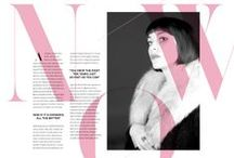 Editorial Design / Glossy Mags, editorial design and content