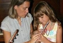 """Music with Children / Music brings people together and has a harmonizing effect on a group. Rudolf Steiner said: """"Music tunes and heals the soul life of the human being."""" Wonderful ideas for Waldorf homeschooling."""