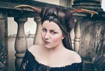 Oh, deer! / Model&concept: Margueritte Weinlich Hair&makeup: Markéta Vaničková Photo&retouching: Karolina Ryvolova photography  Vine skirt: Emerald-Dream Corset: Riwaa Nerona
