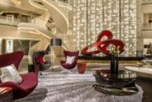 Hotels around the world / Hotel Lobbies are a great, perhaps, the only way to create a lasting first impression on their guests.