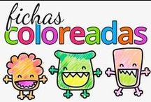 Fichas infantiles coloreadas